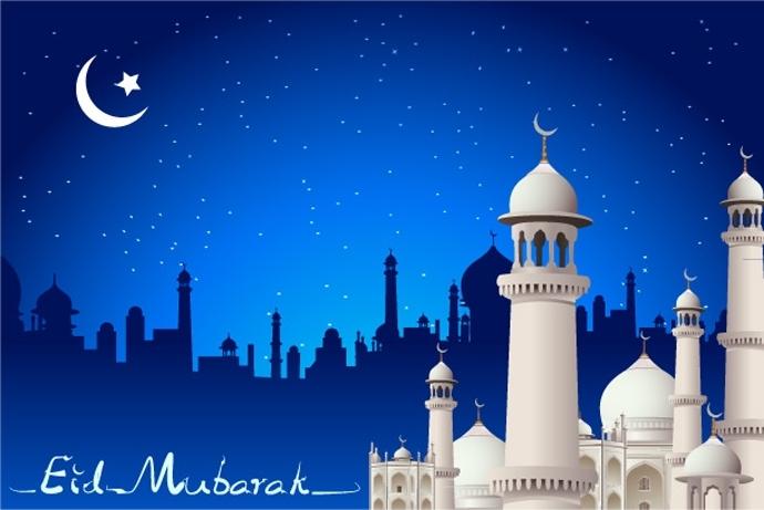 Masjid Eid Mubarak Greetings Cards Wallpapers