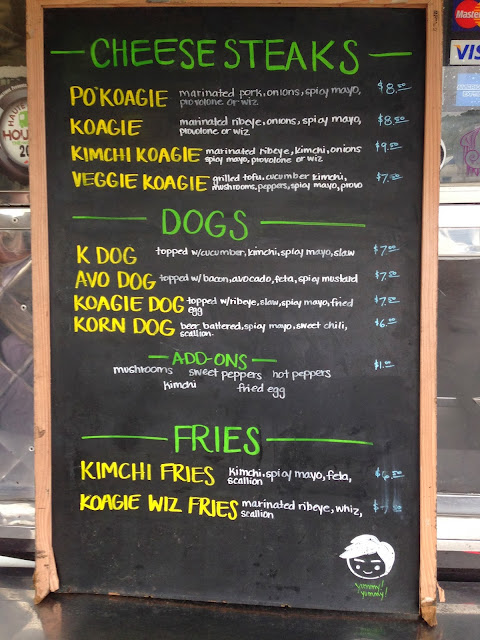 Koagie Hots menu Houston, TX