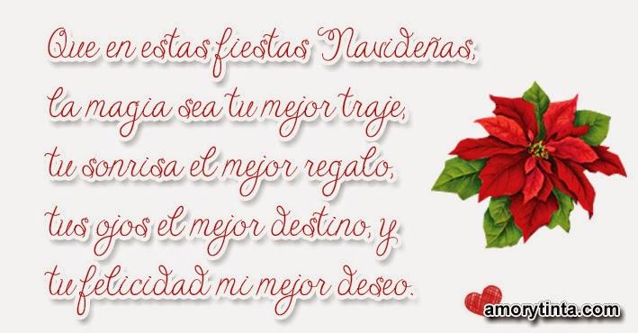 frase de navidad con una flor de pascua