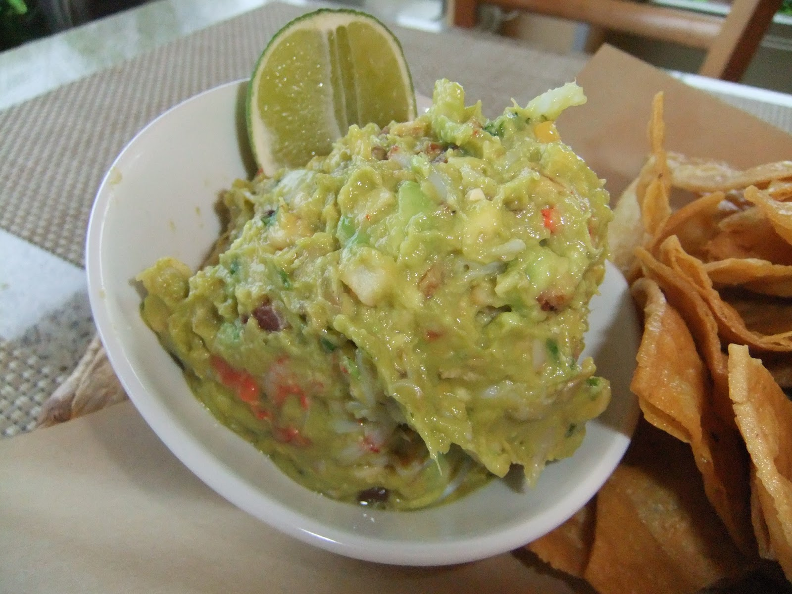 ... corn and the Mango Tomatillo salsa was very refreshing (and spicy from