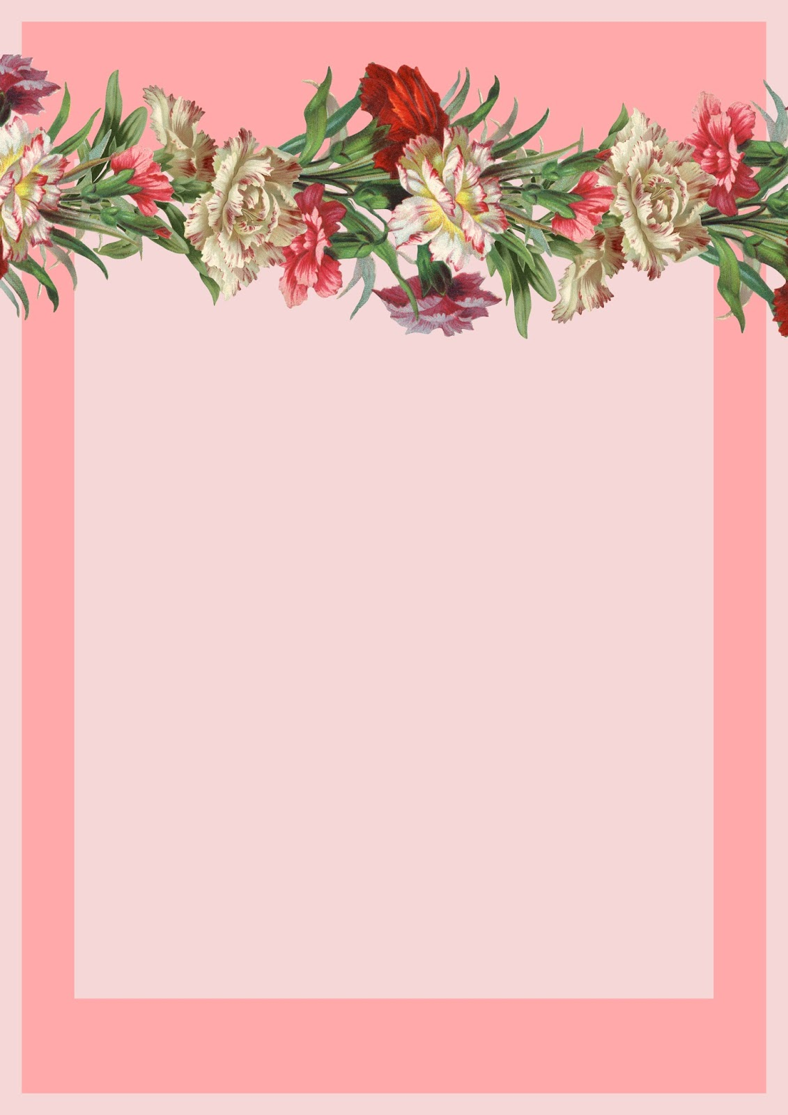 Free printable vintage flower stationery - ausdruckbares Briefpapier ...