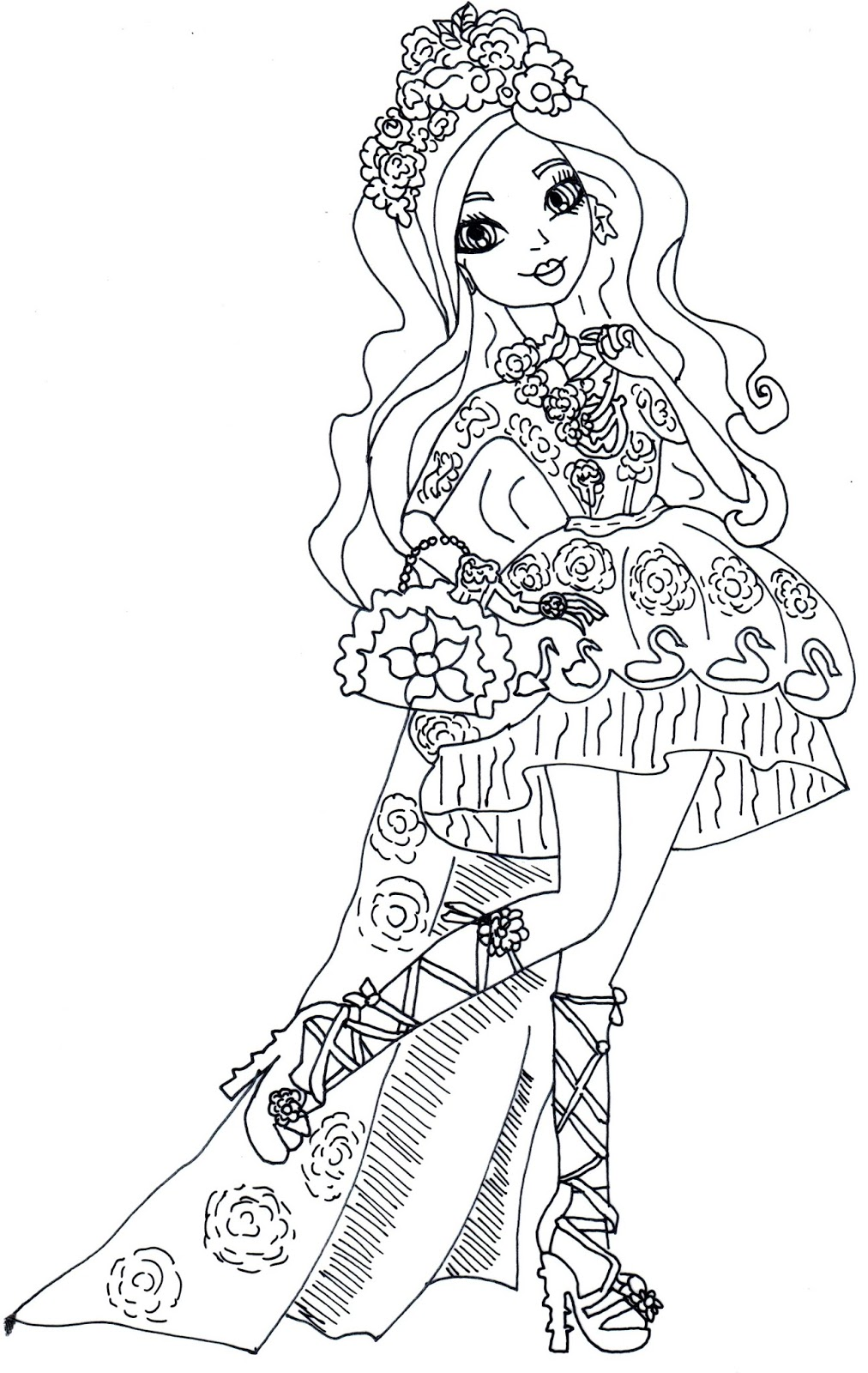Briar Beauty Spring Unsprung Ever After High Coloring Page