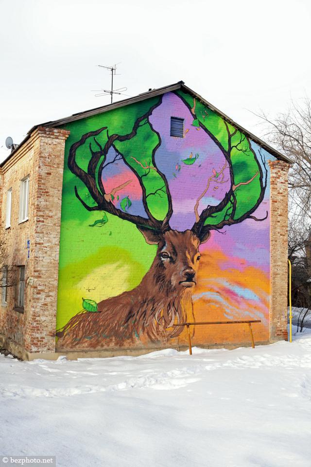 граффити животные