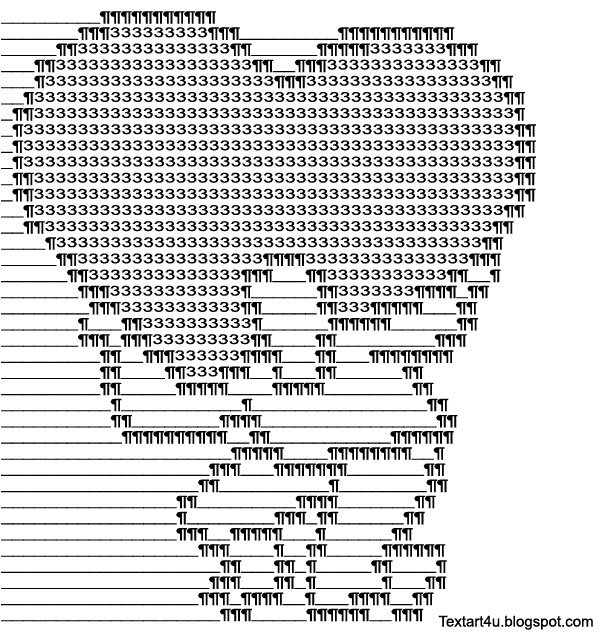 Guy Lifting A Big Heart Text Art Cool Ascii Text Art 4 U
