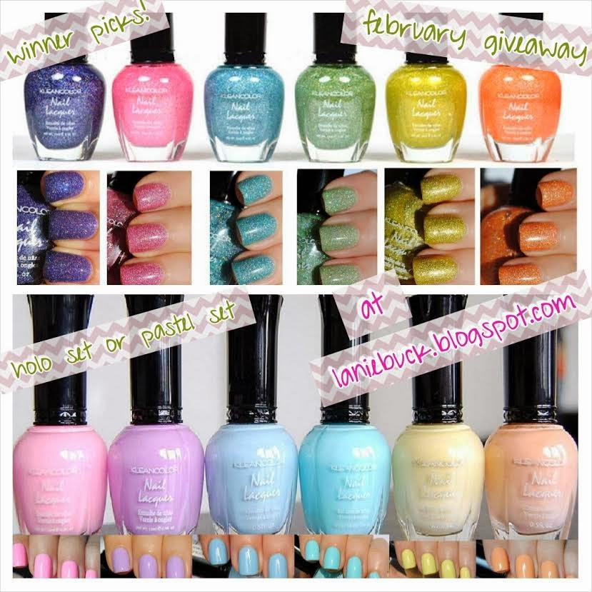 http://laniebuck.blogspot.com/2014/02/februarys-giveaway-set-of-6-kleancolor.html