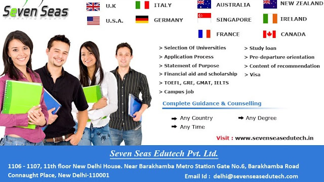 study abroad in India, study abroad consultants in India, Study abroad visa, Study Abroad consultants in Delhi, Seven Seas, Best study abroad consultants,