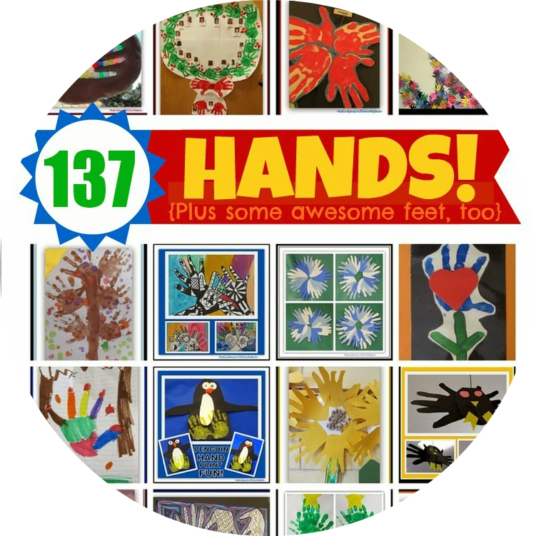 137 Hand Print Projects! RoundUP at RainbowsWithinReach