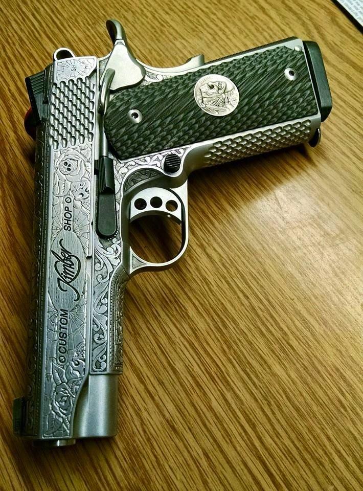 Shane Hunter HoboShane Hobo Nickels Engraved Guns and Coins Kimber 1911 Engraving
