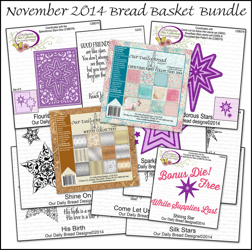 Stamps - ODBD November Bread Basket Bundle with FREE Bonus Die
