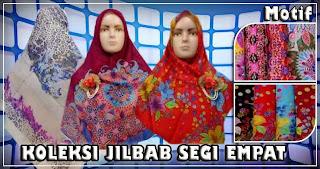 Tempat grosir jilbab segi empat motif terbaru umama bahan paris