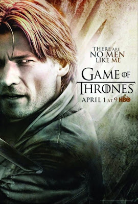 "Game of Thrones Season 2 Character Television Posters - ""There Are No Men Like Me"" - Nikolaj Coster-Waldau as Jaime Lannister"