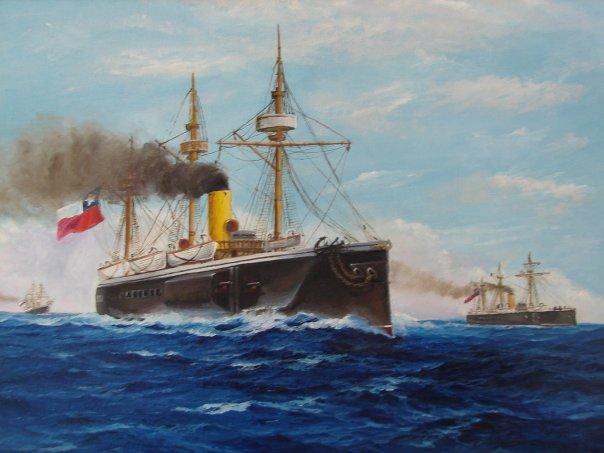 La guerra del pac fico 1879 1884 per bolivia y chile for Arquitectura naval e ingenieria maritima