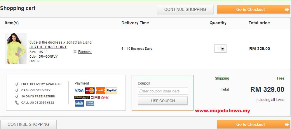 shopping online, membeli belah atas talian, shopping online dengan harga diskaun