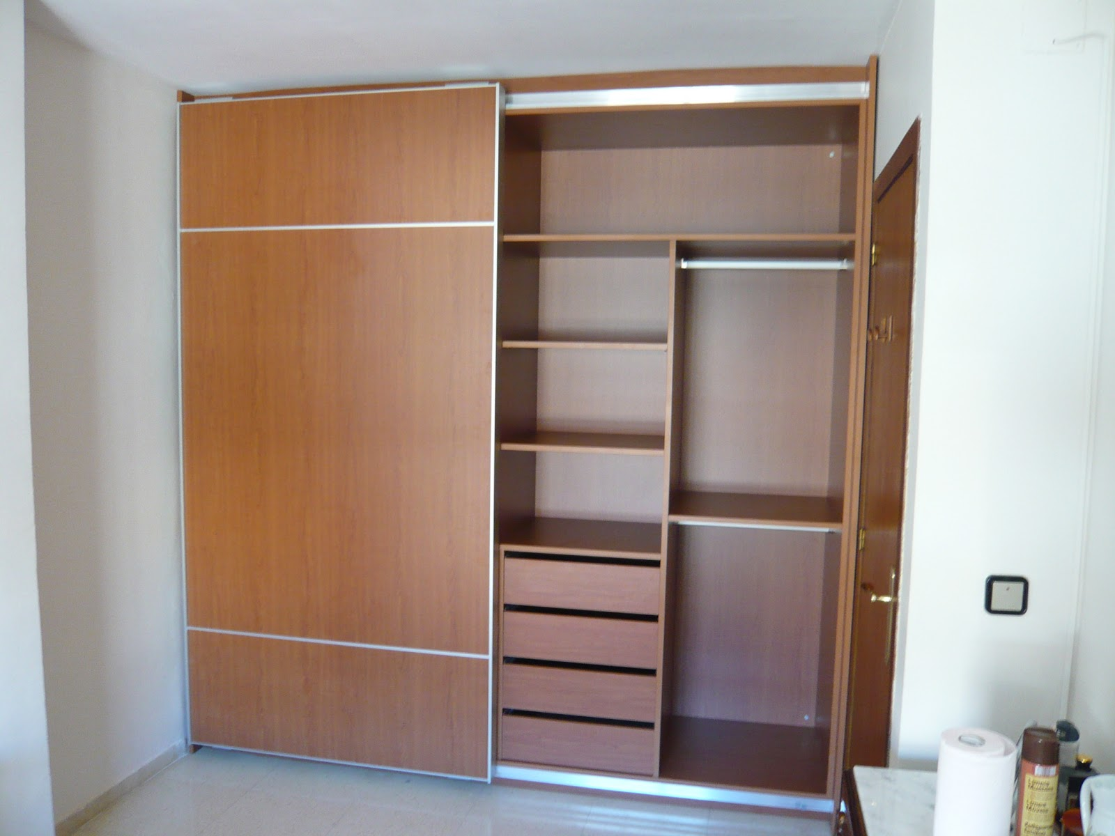 Reuscuina mueble puertas correderas con 1 espejo - Muebles con puertas correderas ...