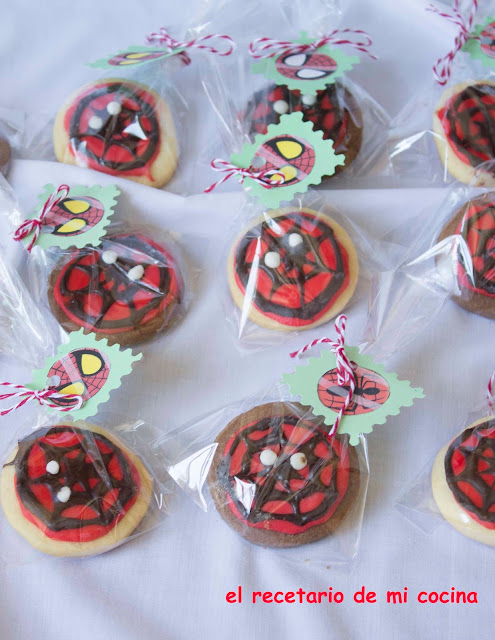 galletas de spiderman