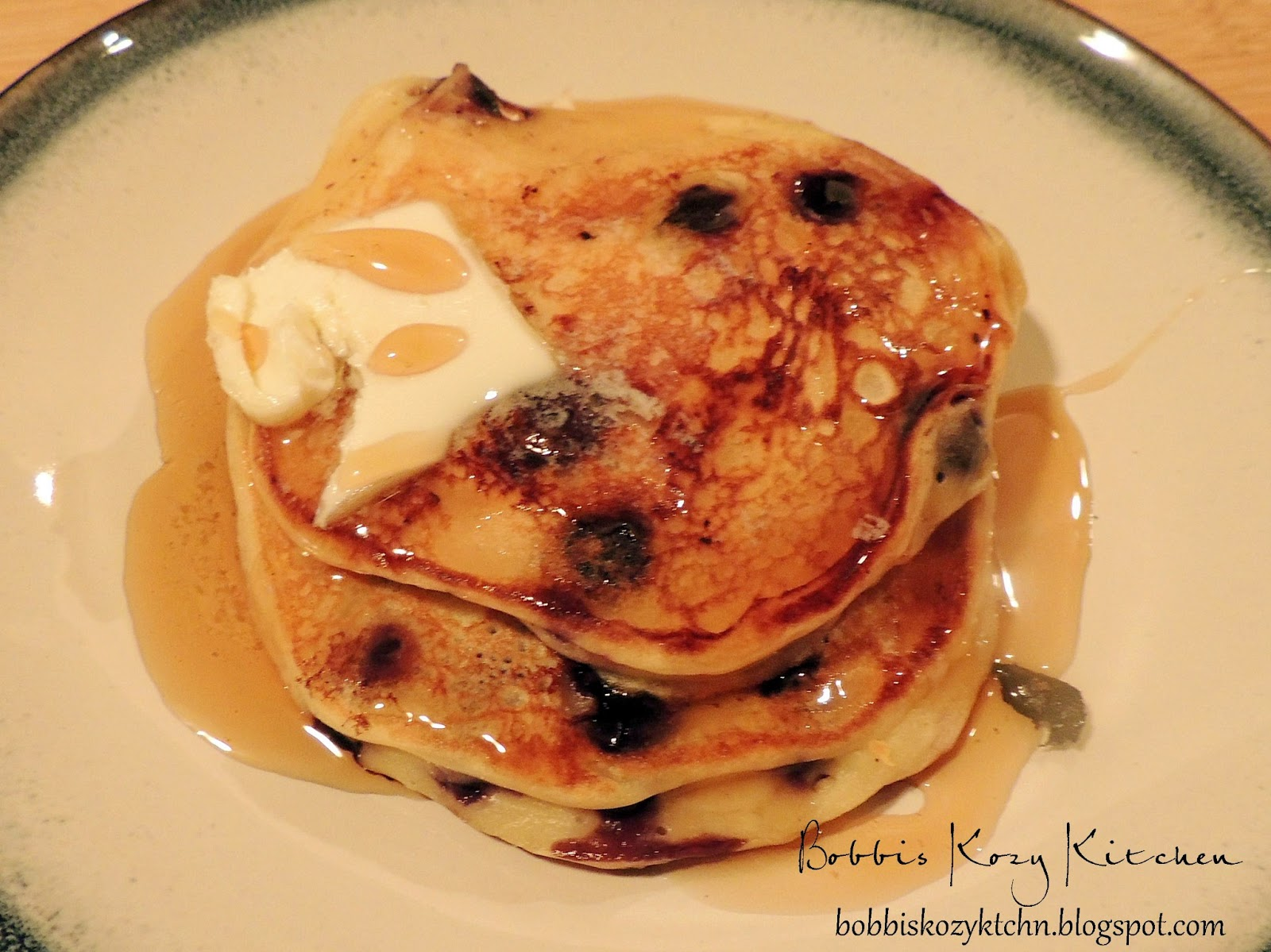 Bobbi's Kozy Kitchen: Blueberry Pancakes with Greek Yogurt and Lemon
