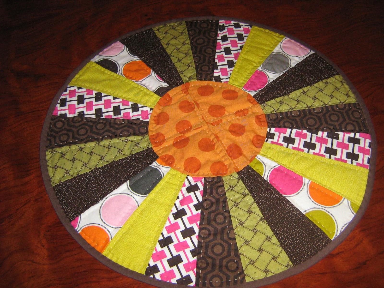 Noly labores camino de mesa patchwork hecho por nati merlo - Camino mesa patchwork ...