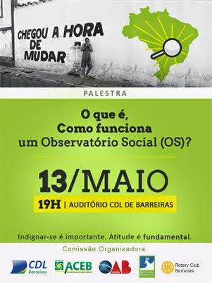 OBSERVATÓRIO SOCIAL EM BARREIRAS