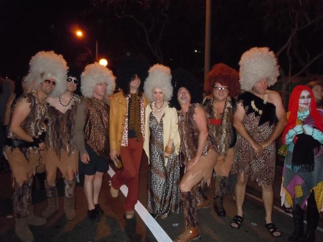 West Hollywood Halloween cavemen