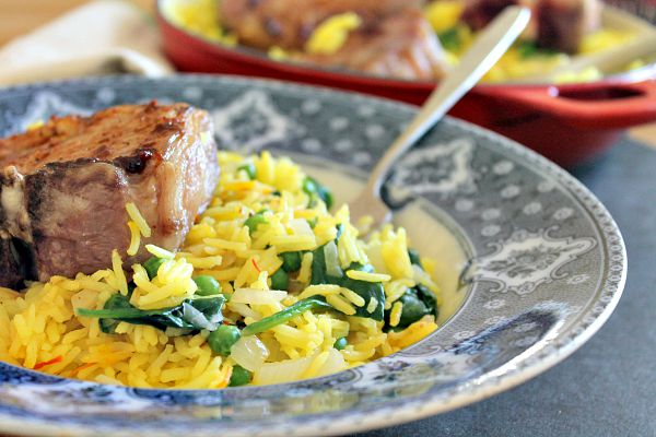 Spiced Lamb and Saffron Rice