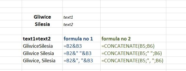 formula CONCATENATE