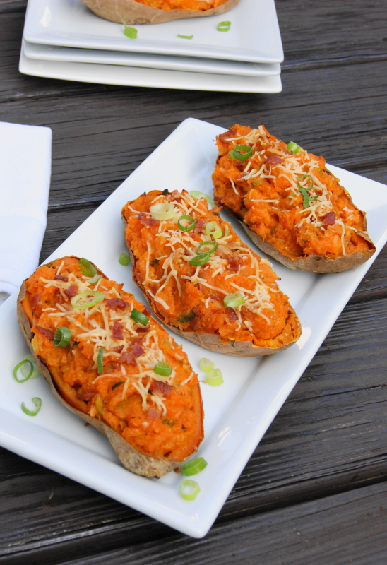 Twice-Baked Sweet Potatoes - The Kitchen is My Playground