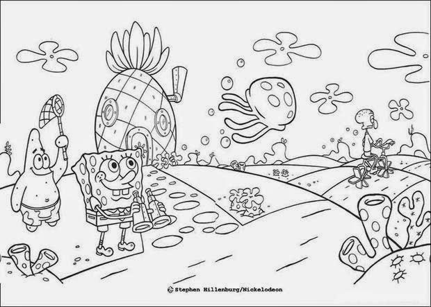 imagens para colorir online bob esponja - Jogo online de colorir o Bob Esponja