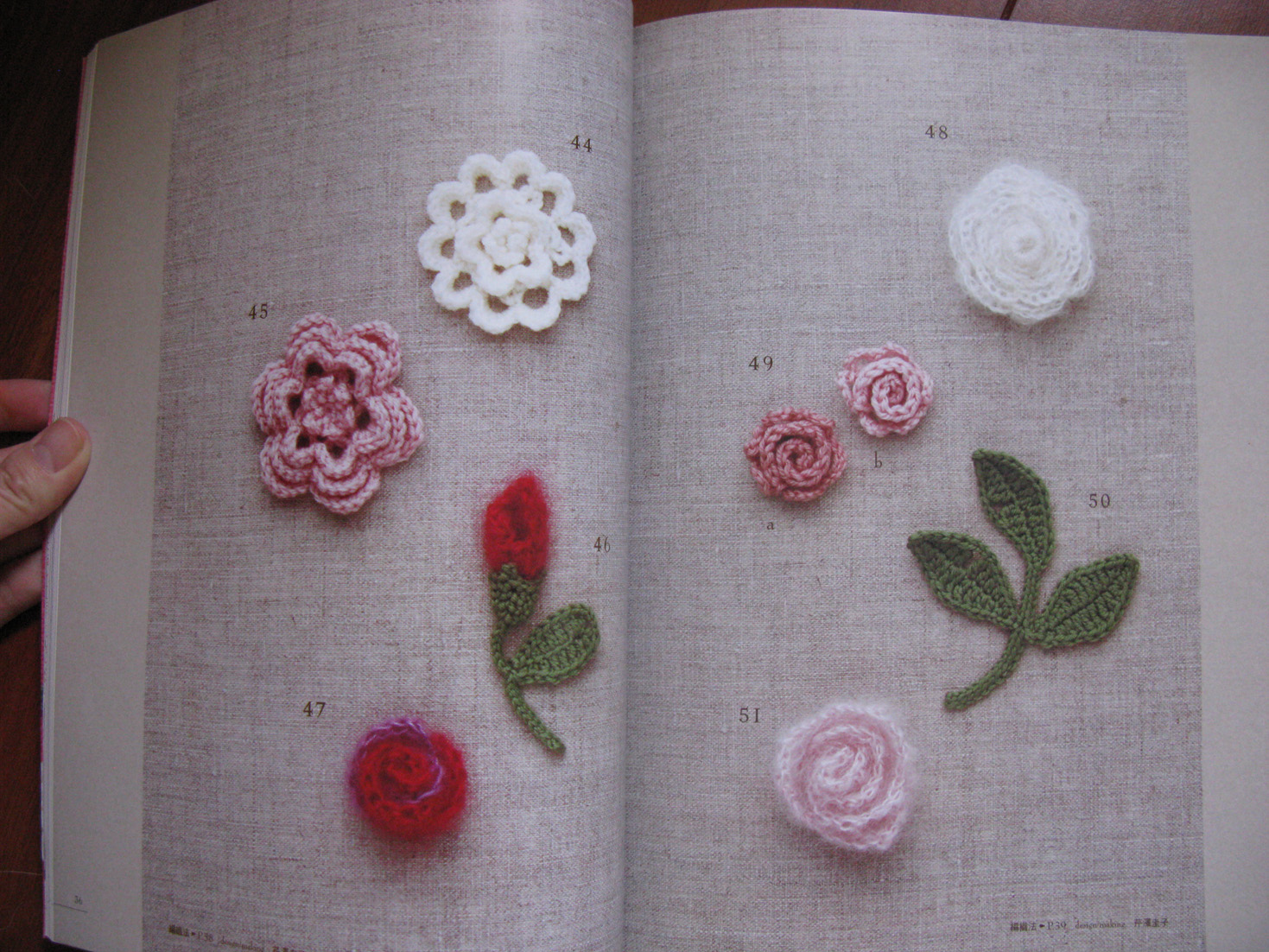 Crochet Stitches Rose : ... .com: Crochet Rose Pattern 100 Japanese Crochet Patterns Book