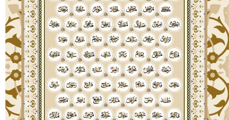 99 names of muhammad pdf
