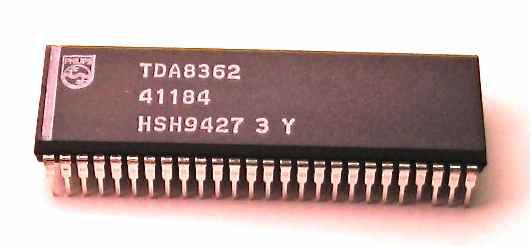 PIN IC TDA8360, TDA8361, TDA8362.
