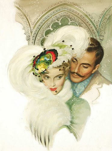 vintage illustrations couple