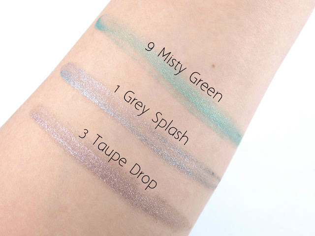 """YSL Full Metal Shadow in """"1 Grey Splash"""", """"3 Taupe Drop"""" & """"9 Misty Green"""": Review and Swatches"""