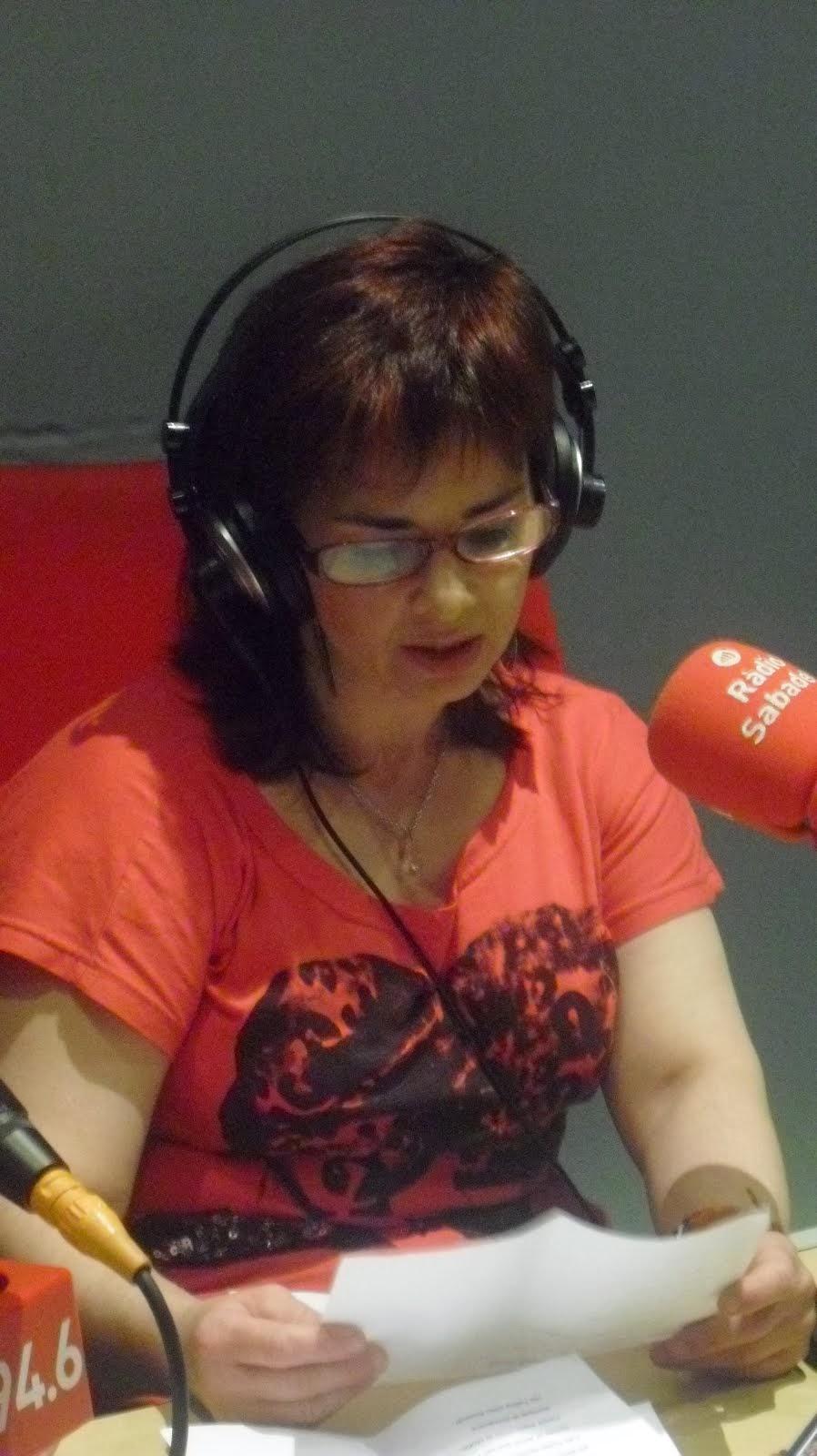 Recitando en radio Sabadell
