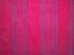 Vibrant antique French Crimson Ticking with Blue Stripes