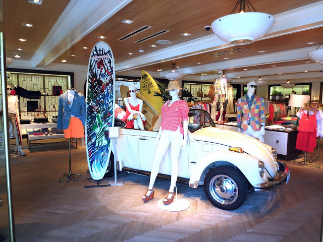Tommy Hilfiger store West Hollywood Surf Shack VW Bug board fashion style display summer