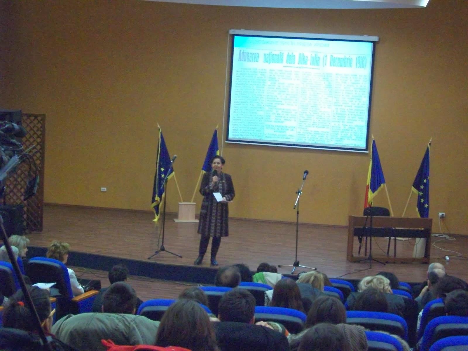 Insp. Prof. Elena Preda, cuvânt de deschidere la conferinţa regională dedicată Marii Uniri...