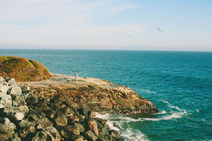 couple, engaged, beach, Santa Cruz engagement