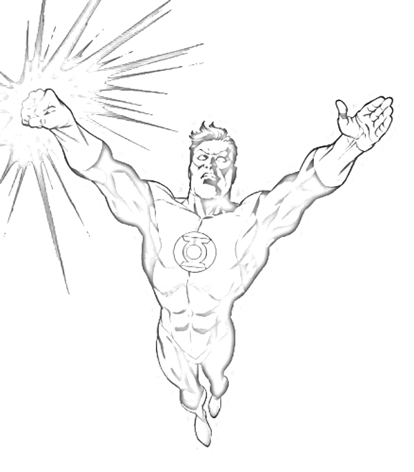Green Lantern Coloring Pages title=