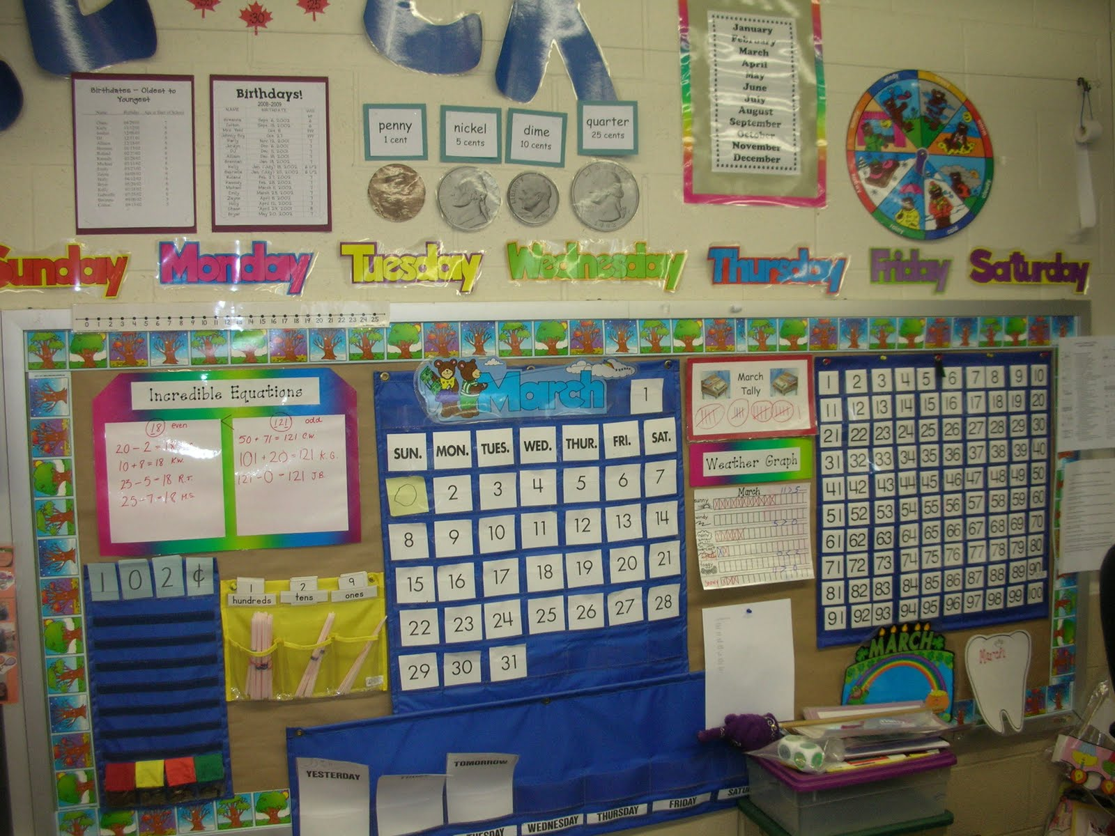 First Grade Classroom Word Wall http://first-grade-frenzy.blogspot.com/2011/08/where-it-all-goes-down-wednesday.html
