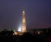 Qutub Minar at Night