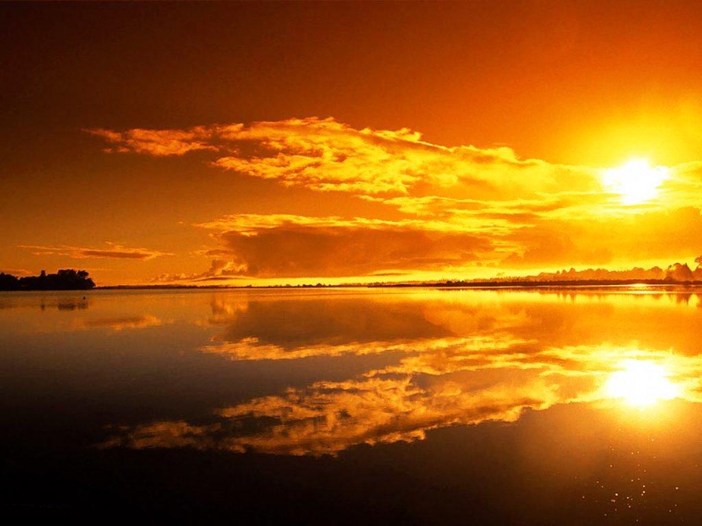 Se va escondiendo el sol Atardecer+naranja.+(7)