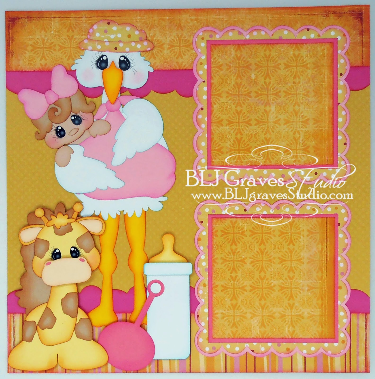 Scrapbook ideas for baby girl - Files For This Layout From Treasure Box Designs Special Delivery Animal Babies