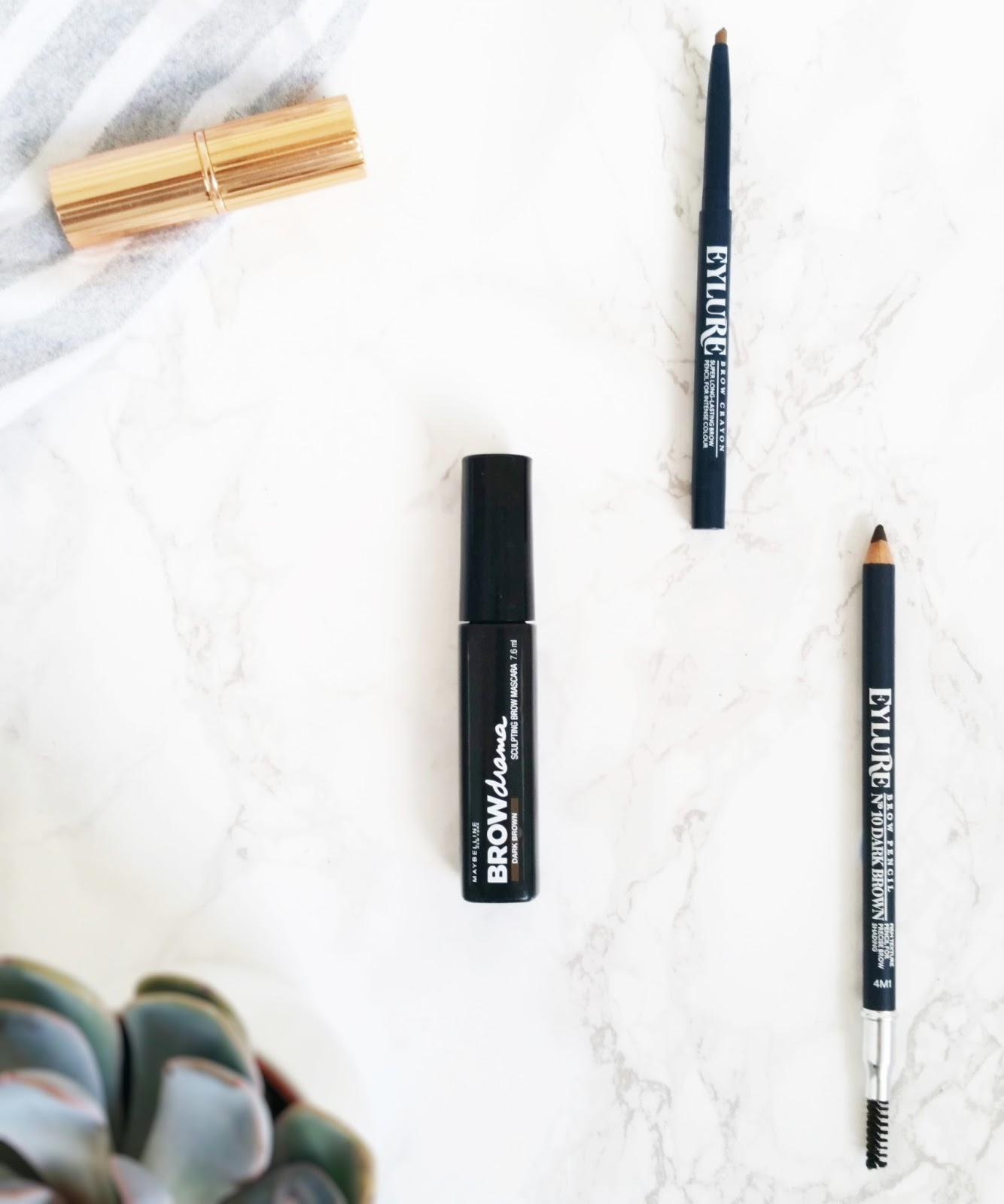 budget brow products, eylure brow crayon, eylure brow pencil, maybelline brow drama