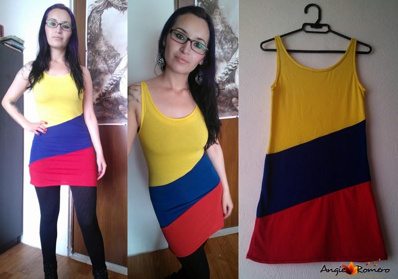 Como hacer vestido amarillo, azul y rojo - Seleccion Colombia
