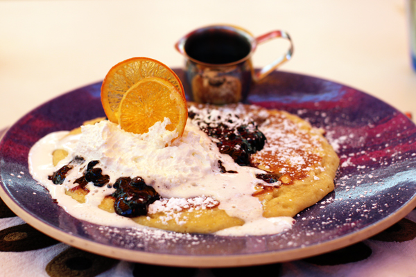 Famous blueberry pancakes at Norma's at The Parker