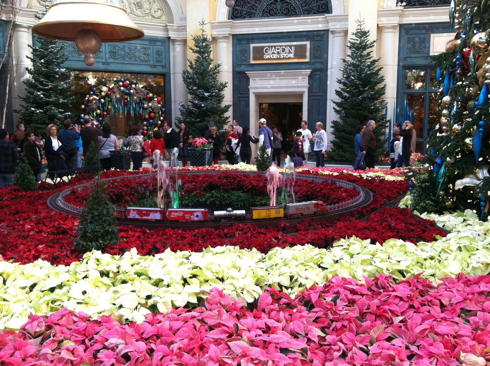 Bellagio Botanical Gardens   Christmas Train