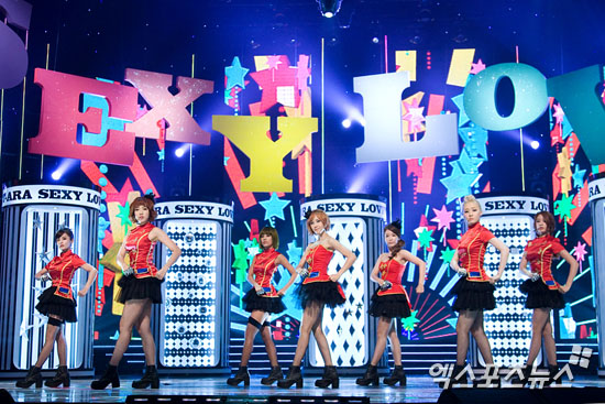 T-ara sexy love comeback stage