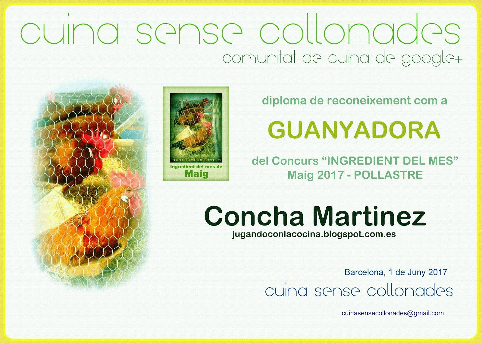 Ganadora del concurso del mes de Mayo en Cuina Sense Collonades!
