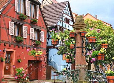 Tempat wisata terkenal di Perancis Bergheim beautiful alsatian village france