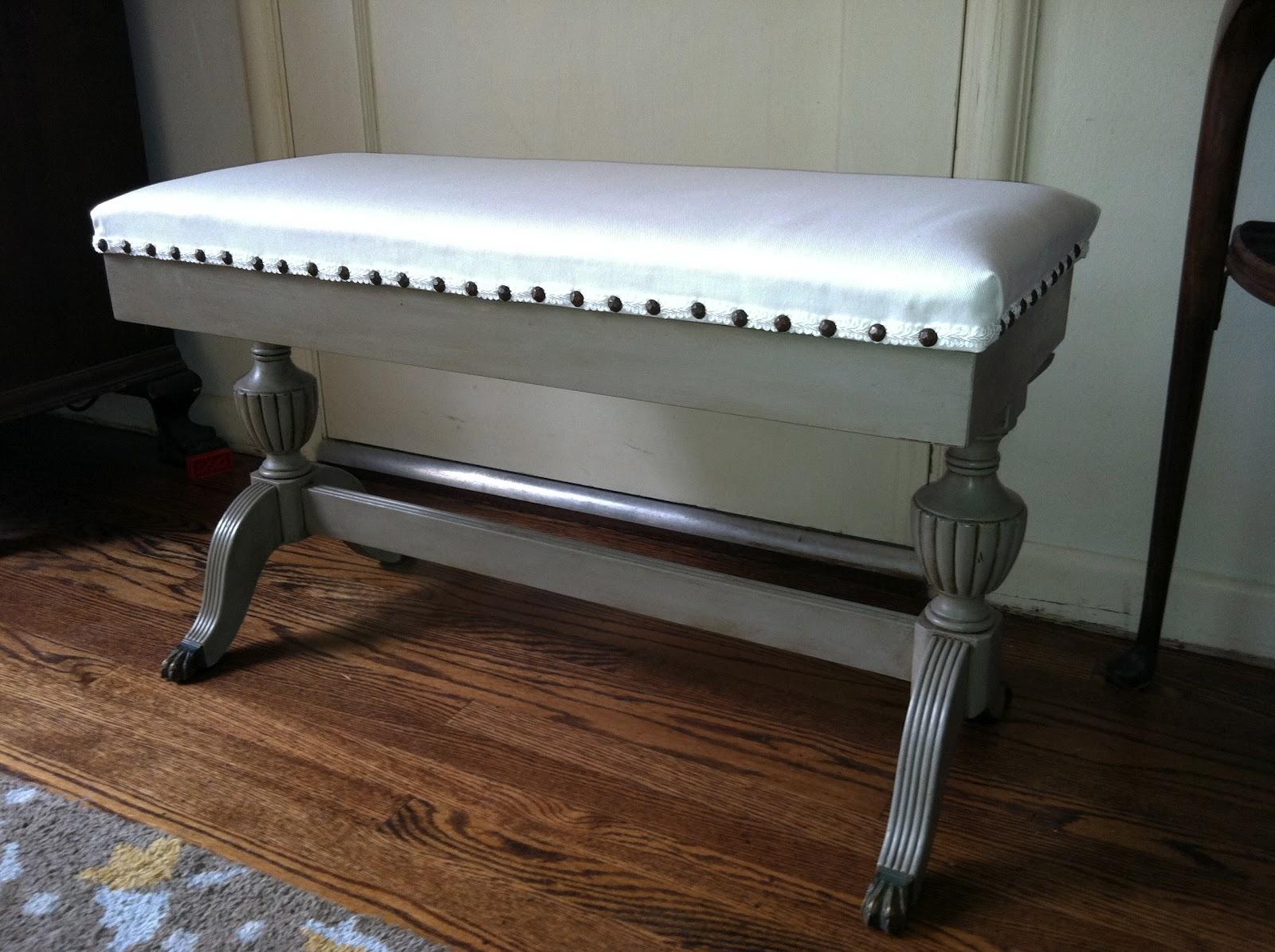 Raspberry Row Antique Piano Bench